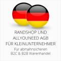 abmahnsichere Randshop und Allyouneed AGB B2C und B2B für Kleinunternehmer