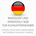 abmahnsichere Randshop und Spandooly AGB für Kleinunternehmer