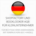 abmahnsichere Shopfactory und Booklooker AGB für Kleinunternehmer