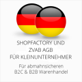 abmahnsichere Shopfactory und ZVAB AGB B2C und B2B für Kleinunternehmer
