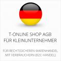 abmahnsichere T-Online Shop AGB für Kleinunternehmer