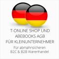 abmahnsichere T-Online Shop und Abebooks AGB B2C & B2B für Kleinunternehmer