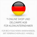 abmahnsichere T-Online Shop und Delcampe AGB für Kleinunternehmer