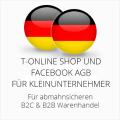 abmahnsichere T-Online Shop und Facebook AGB B2C & B2B für Kleinunternehmer