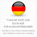 abmahnsichere T-Online Shop und eGun AGB für Kleinunternehmer