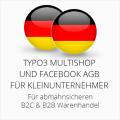 abmahnsichere Typo3 Multishop und Facebook AGB B2C und B2B für Kleinunternehmer