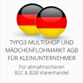abmahnsichere Typo3 Multishop und Mädchenflohmarkt AGB B2C und B2B für Kleinunternehmer