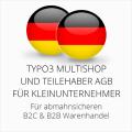 abmahnsichere Typo3 Multishop und Teilehaber AGB B2C und B2B für Kleinunternehmer