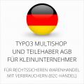 abmahnsichere Typo3 Multishop und Teilehaber AGB für Kleinunternehmer