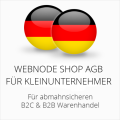 abmahnsichere Webnode Shop AGB B2C und B2B für Kleinunternehmer