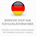 abmahnsichere Webnode Shop AGB für Kleinunternehmer