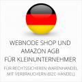 abmahnsichere Webnode Shop und Amazon AGB für Kleinunternehmer