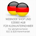 abmahnsichere Webnode Shop und Ezebee AGB B2C und B2B für Kleinunternehmer