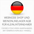 abmahnsichere Webnode Shop und MeinOnlineLager AGB für Kleinunternehmer