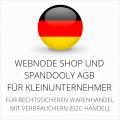 abmahnsichere Webnode Shop und Spandooly AGB für Kleinunternehmer