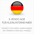 abmahnsichere e-vendo AGB für Kleinunternehmer