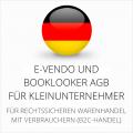 abmahnsichere e-vendo und Booklooker AGB für Kleinunternehmer