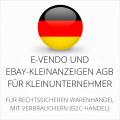 abmahnsichere e-vendo und Ebay-Kleinanzeigen AGB für Kleinunternehmer