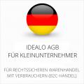 Idealo AGB für Kleinunternehmer